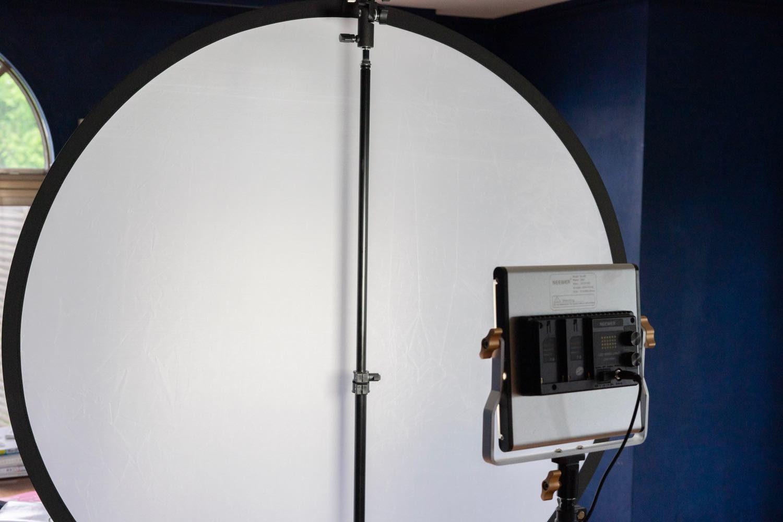 撮影時の照明環境。
