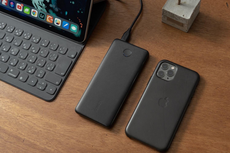薄さ14mmでPD急速充電。iPhoneサイズの10000mAhモバイルバッテリー。『Anker Power Core Slim』