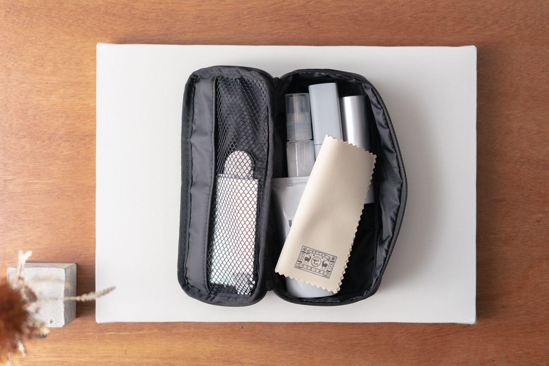 『中川政七商店-美容洗顔セーム革』をポーチに。