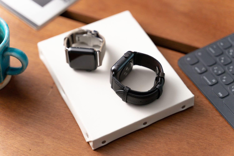 ユニセックスに使える『EPONAS(エポナス) - Apple Watchシュリンクレザーバンド』