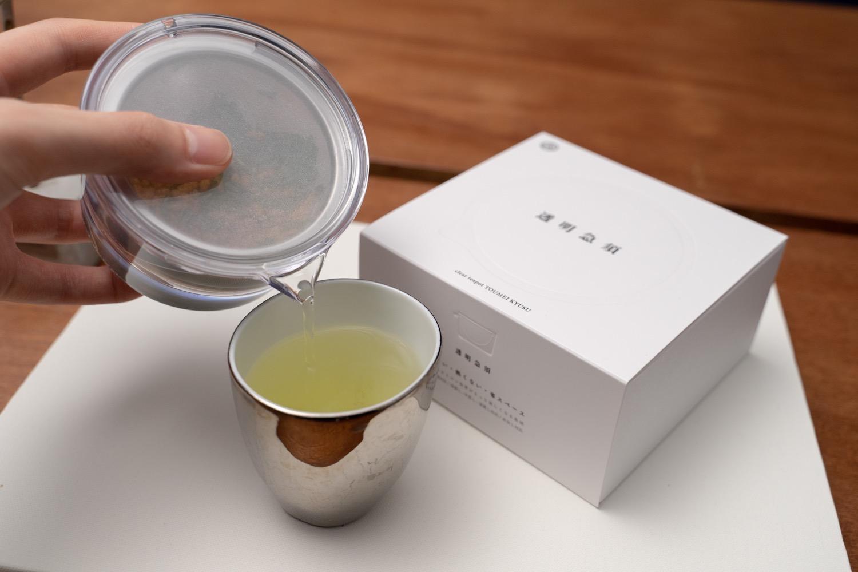 ミニマルな急須で煎茶を始める。煎茶堂東京『透明急須』
