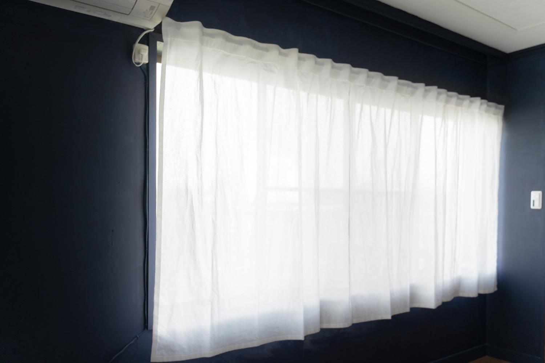無印良品のオーダーカーテン。ノンプリーツカーテンをリピート買い。