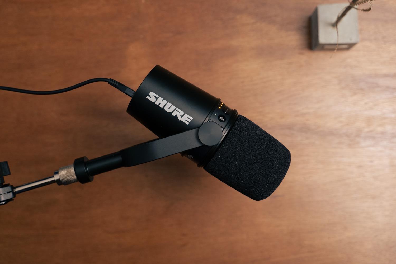 ケーブル一本でiPadに接続可能な外部マイク。『SHURE MV7』