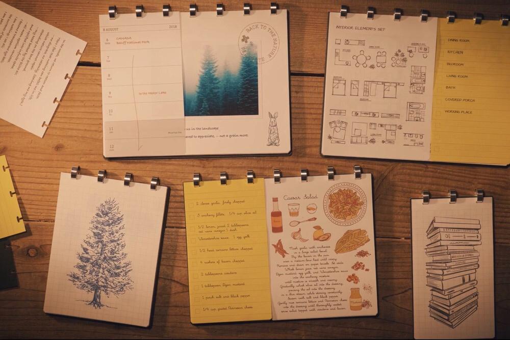 アイデアの種を育てるノート。