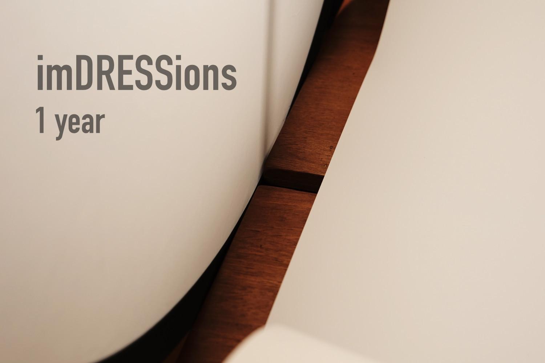 ブログ「imDRESSions」が1歳になりました。